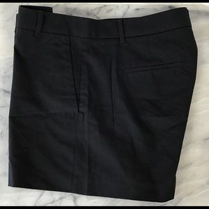 Ann Taylor Black Shorts Size 8 Pockets Cotton NWOT